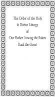 St. Basil's liturgy service book, christian books, icons